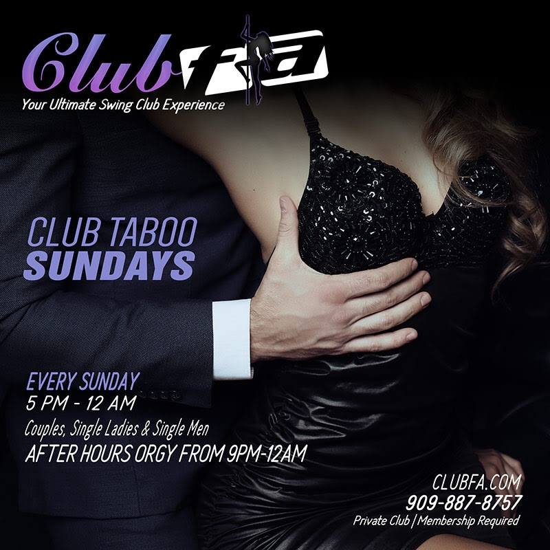 Club Taboo Sunday With Afterparty Orgy